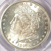 1887-s 1 Ms63 Pcgs-white And Frosty - Morgan Dollar