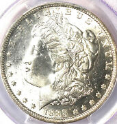 1888-o 1 Ms65 Pcgs-only 395 In Higher Grade-pq And White - Morgan Dollar