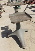 Old Industrial Age Cast Iron Stand Adjustable Tray Tv Stand Entertainment Center
