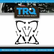 Trq 12 Piece Steering Suspension Kit Control Arms Tie Rods Sway Bar Links New