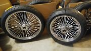 Chrome 21 Dd And 16 W 150 Wide Tire W Bw Tires 4 Harley Touring 2000-2007