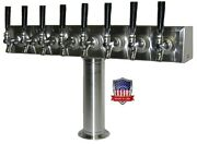 Stainless Steel Draft Beer Tower Made In Usa - 8 Faucets - Glycol Ready -tt8crg