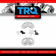 Trq Front And Rear Performance Drilled And Slotted Brake Rotor And Posi Ceramic Pad