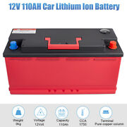 New 12v 110ah 2200amp Lithium Iron Phosphate Battery Lifepo4 For Auto With Bms