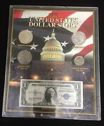 The United States Dollar History, 4 1 Coins And 1 Note -limited Edition Origina