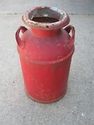 1955 Xout Xout Arden Farms Primitive Dairy Milk Can Red Metal Can
