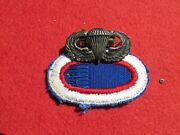 11th Airborne Division Jump Wing Sterling W/ Oval