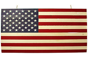 Wooden American Flag Red White Blue Us Stars And Stripes Wall Decor 48in X 27in