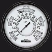 1949-1950 Ford Direct Fit Gauge White Fc49w