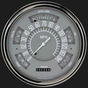 1961-1966 Ford F-100 Direct Fit Classic Instruments Gauge Gray Ft61g