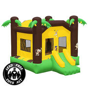 Commercial Grade 17 X 13 Bounce House 100 Pvc Jungle Jumper Inflatable Only