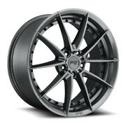 20x9f/10.5r Niche Sector M197 5x4.5 +35/40 Gloss Anthracite Wheels Set Of 4