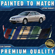 New Painted To Match Front Bumper Direct Fit For 2001 2002 Honda Accord 2-door
