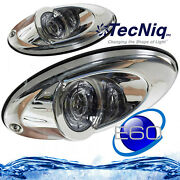 1 Pair Marine Boat Led Recessed Mount High Output Docking Light 2000 Lumens Each