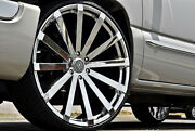 26 Inch Velocity V12 Chrome Wheels Rims And Tires Fit 6 X 5.5 Sierra