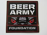 Beer Sticker Beer Army Foundation Nonprofit Community Outreach Organization