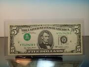 1977 5 Major Error 3rd Print Inverted Chicago Upside Down Serial And Seals