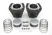 1200 Replacement Cylinder And Piston Kit 101 W Gaskets Harley Xl 1986 - 2003