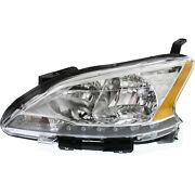Headlight For 2013 2014 2015 Nissan Sentra Left With Socket And Wiring Capa