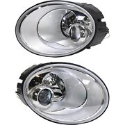 Headlight Set For 2006-2010 Volkswagen Beetle Left And Right With Bulb Capa 2pc
