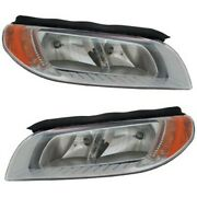 Halogen Headlight Set For 2008-2011 Volvo S80 Left And Right W/ Bulbs Pair