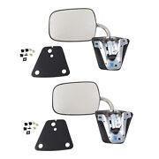 Stainless Steel Manual Side View Mirrors Lh And Rh Pair Set For Chevy Truck