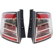 Halogen Tail Light Set For 2007-2010 Ford Edge Clear/red Lens W/ Bulbs 2pcs Capa