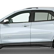Painted Body Side Moldings With Chrome Trim Insert For Chevy Equinox 2018-2021