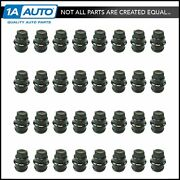 Wheel Lug Nut Cap Black Plastic Set Of 32 For Chevrolet Gmc Cadillac Truck New