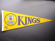 Rare Late 1960and039s 1970and039s Los Angeles Kings Nhl Hockey Pennant Flag Nice