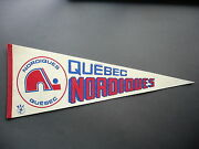 Early 1970and039s Quebec Nordiques Wha Hockey Pennant Flag Sharp