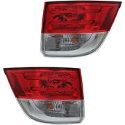 Led Tail Light Set For 2014-2016 Honda Odyssey Outer Clear/red W/ Bulbs 2pcs