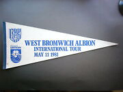 1981 Nasl Soccer Football Pennant Flag Vancouver Whitecaps West Bromwich Albion
