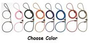 Slip Style Leads Show Dog Trainer Handling Leather Slide Rope Leash 1/2 X 6and039