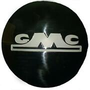 Gmc 1/2 Ton Truck Stainless Steel Hubcap With White Block Letter 1947-early 1955