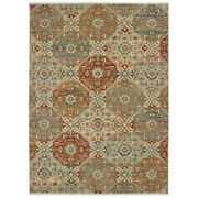 Sphinx Beige Rings Loops Petals Transitional Casual Area Rug Geometric 90000