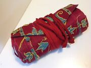 Antique Judaica Synagogue Italy Wimpel Parochet Torah Ark Embroidered M1841