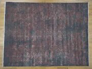 9and0392x12and039 Wool And Silk Farsian Heris Design With Grey Hand Knotted Rug R41304