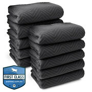 10 Moving Blankets Furniture Pads - Ultra Thick Pro - 80 X 72 Black