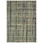 Sphinx Blue Lines Banded Rows Crosshatch Contemporary Area Rug Floral 8020b