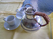 Barker Brothers Uk Sheffield Silver On Copper Individual Hot Water Kettle Teapot