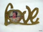 Traditional Old Collectible Metal Photo Frame Love Frame Indian Antiques