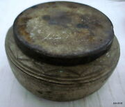 Traditional Collectible Old Metal Chapati Box Bread Box Indian Antiques