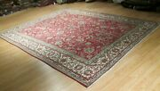 Estate Circa 1960 10x13 Museum Allover-pattern Handmade-knotted Wool Rug 582653