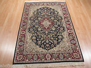 4x6 Super Fine Museum Floral Formal Collectible Handmade Knotted Wool Rug 581395