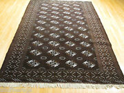 Estate Circa 1970 7x10 Bukhara Allover-pattern Handmade-knotted Wool Rug 582119