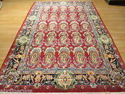 Estate Circa 1970 7x10 Allover-pattern Paisley Hand-knotted Wool Rug 580194
