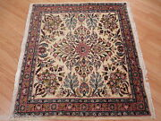 Estate 3x3 Square Circa 1950 Unique Stunning Hand Knotted Wool Rug 583401