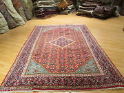 Estate Circa 1960 7x11 Museum Vegetable Dye Hand-made-knotted Wool Rug 582277