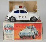 5866 Alps Toys Battery-powered Volkswagen Police Car. Rare. Made In Japan.
